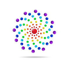 abstract circle dots 3d logo iconxa vector image vector image