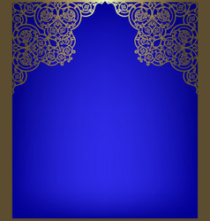 greeting card with golden frame vector image