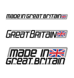 made in great britain vector image