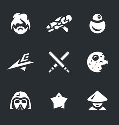 set of space war icons vector image vector image