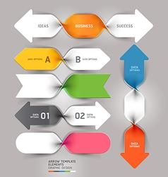 Arrow business spiral template vector image