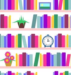 Bookshelf seamless vector image vector image