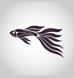 guppy fish logo icon design vector image vector image