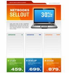 laptop brochure vector image vector image