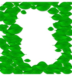 Realistic green leaves frame Ecology concept vector image vector image