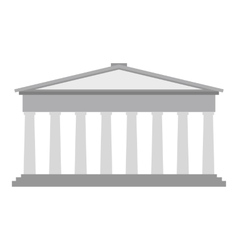 Roman pantheon flat vector image
