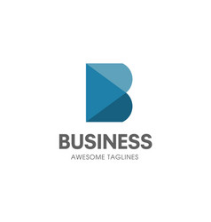 creative b letter concept logo vector image vector image
