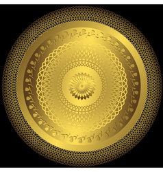 decorative gold plate vector image