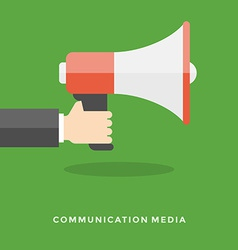 Flat design business concept Digital marketi vector image