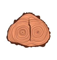 Tree wood slices vector