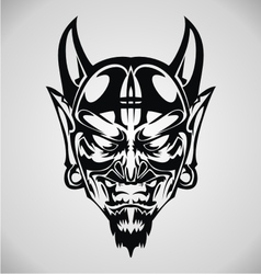 Devil face tribal vector