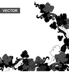Grapevine black vector