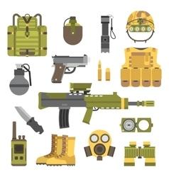 Military weapon guns symbols vector image vector image