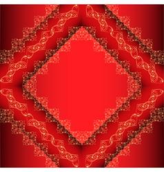 Red Ornamental Frame Background vector image