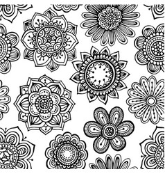 seamless pattern with hand drawn doodle ornate vector image vector image
