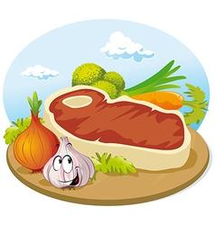 steak vector image