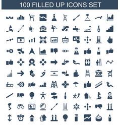 100 up icons vector
