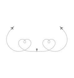 2 hearts vector