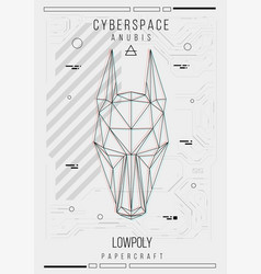Abstract low poly template poster with poligonal vector