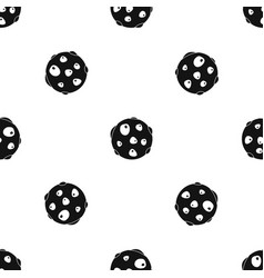 Alone planet pattern seamless black vector