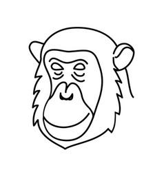 Animal chimpanzee icon design clip art line vector