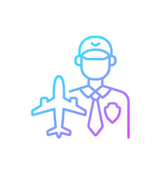 aviation security gradient linear icon vector image