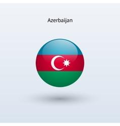 Azerbaijan round flag vector