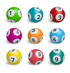 Ball lottery numbers Lotto bingo game luck vector