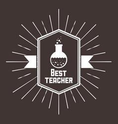 Best teacher desig vector