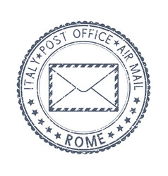 Black postal stamp rome italy postmark vector