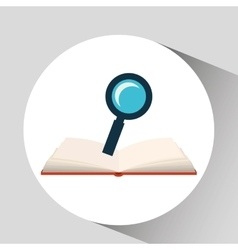 Book open search concept school graphic vector