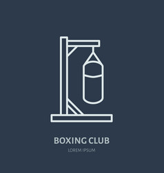Boxing line icon punching bag logo vector