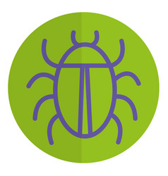 Bug animal isolated icon vector