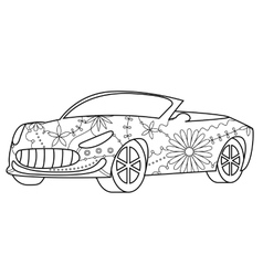 Car cabriolet coloring vector