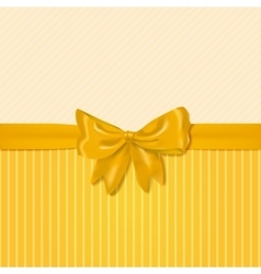 card template with yellow bow vector image