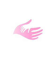 child hand in mother hand icon vector image
