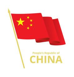 China fluttering flag vector