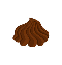 chocolate cream whipped and swirl brown curl vector image