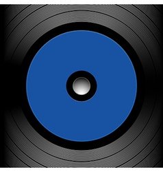 Close up of a record vector