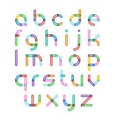 colorful font alphabet letters vector image