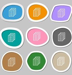 Copy file Duplicate document symbols Multicolored vector