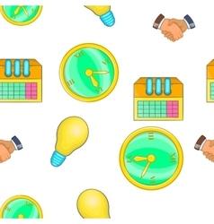 Corporation pattern cartoon style vector image