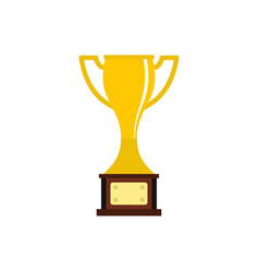 cup icon flat style vector image