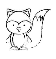 cute chipmunk woodland animal vector image