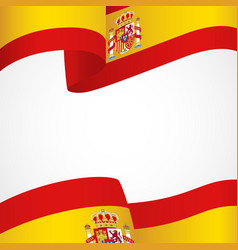 decoration of spain insignia on white vector image
