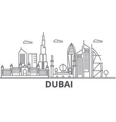 Dubai architecture line skyline vector