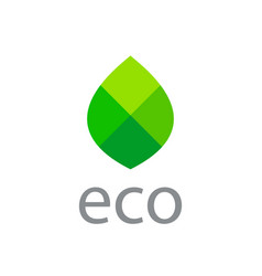 Eco leaves mosaic logo icon design template vector