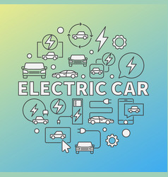 Electric car modern round vector