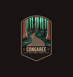 Emblem patch logo congaree national park vector