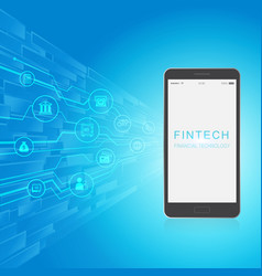 fintech investment financial internet technology vector image